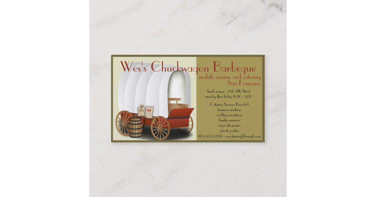 Chuckwagon Food Truck/Catering Business Business Card | Zazzle com