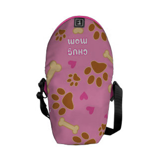 Chug Dog Breed Mom Gift Idea Courier Bag