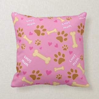 Chug Dog Breed Mom Gift Idea Throw Pillow