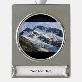 Chugach National Forest Silver Plated Banner Ornament