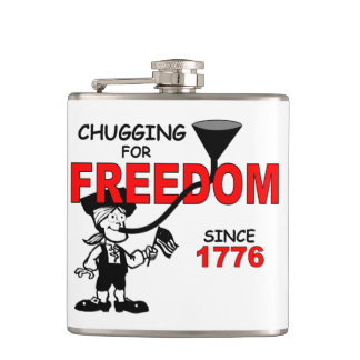 Chugging for Freedom Since 1776 Hip Flask