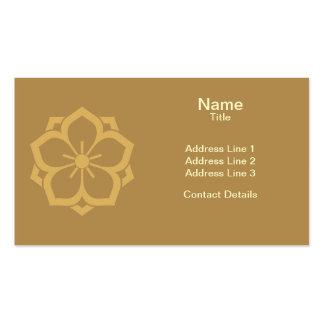Chuinyaekikyo Japanese Kamon Cherry Blossom Sand Double-Sided Standard Business Cards (Pack Of 100)