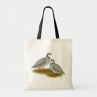 Chukar Partridge Pair Canvas Bag
