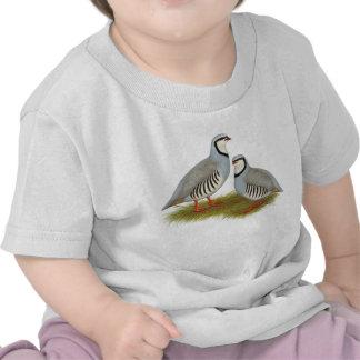 Chukar Partridge Pair Tshirts