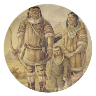 Chukchi Nomads, engraved by Winckelmann and Sons ( Melamine Plate