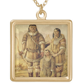 Chukchi Nomads, engraved by Winckelmann and Sons ( Square Pendant Necklace