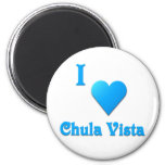 Chula Vista -- Sky Blue Refrigerator Magnet