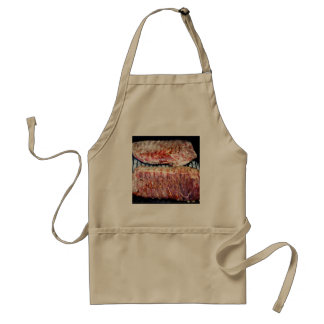 Chuletas de cerdo del cerdo en la parrilla delantal