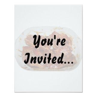"""Chuletas de cerdo en la fotografía blanca del invitación 4.25"""" x 5.5"""""""