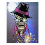 Chulo del cráneo con el gorra, los vidrios, la cad arte con fotos