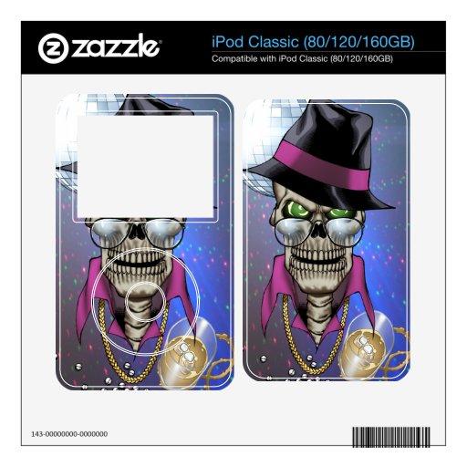 Chulo del cráneo con el gorra, los vidrios, la cad calcomanía para iPod