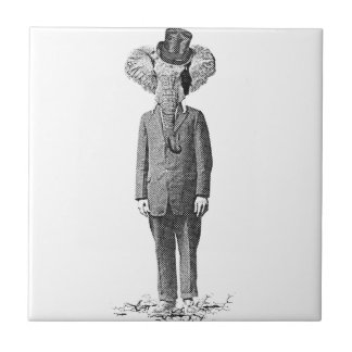 Chulo del elefante azulejo cuadrado pequeño