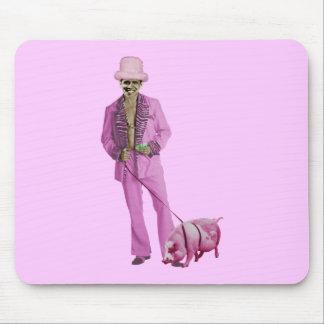 Chulo Obama y el cerdo Tapetes De Ratón
