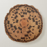 Chumash Native American Art Round Pillow