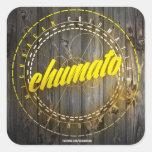 Chumato tradición y fiesta Calcomania 2013 Pegatina Cuadradas Personalizadas