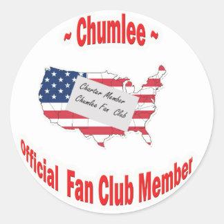 Chumlee-Fan-Club Pegatina Redonda