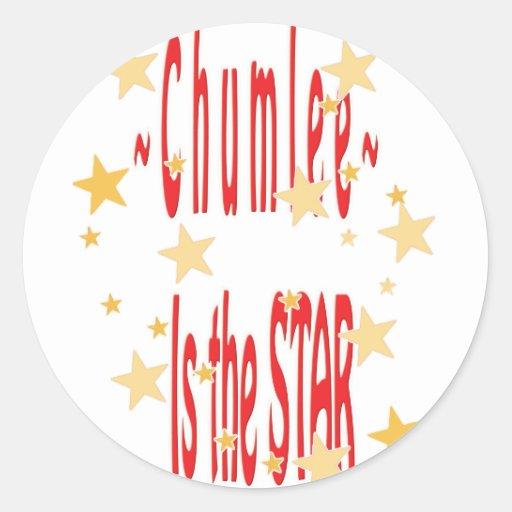 Chumlee-Star Classic Round Sticker