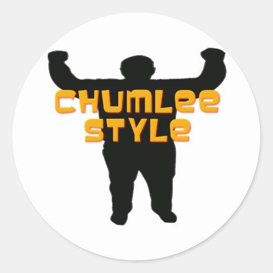Chumlee Style Classic Round Sticker
