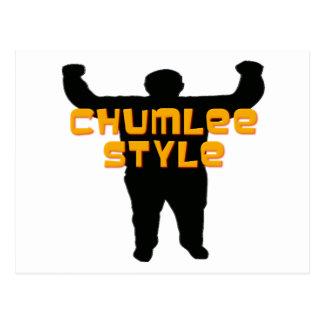 Chumlee Style Postcard
