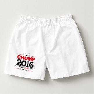 CHUMP 2016 - Make America Racist Again Boxers