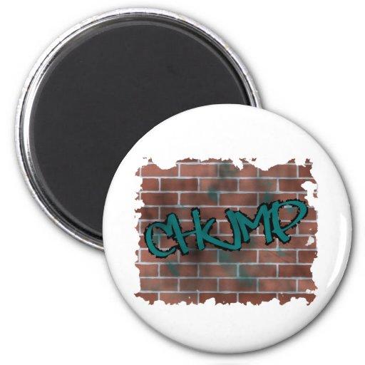chump  graffiti  design refrigerator magnets