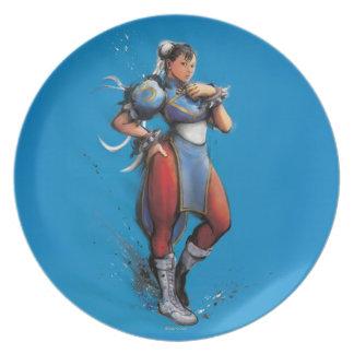 Chun-Li Hand on Hip Party Plate