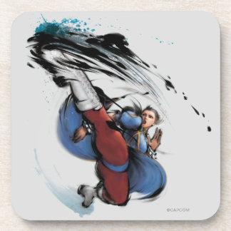 Chun-Li Kick Beverage Coasters
