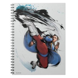 Chun-Li Kick Spiral Notebook