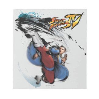 Chun-Li Kick Note Pads