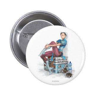 Chun-Li Tying Shoe 2 Inch Round Button