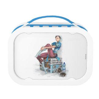 Chun-Li Tying Shoe Yubo Lunchbox
