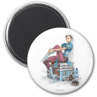 Chun-Li Tying Shoe Magnet