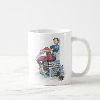 Chun-Li Tying Shoe Classic White Coffee Mug