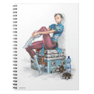 Chun-Li Tying Shoe Notebook