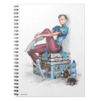 Chun-Li Tying Shoe Spiral Note Books