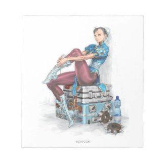 Chun-Li Tying Shoe Memo Notepad