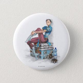 Chun-Li Tying Shoe Pinback Button