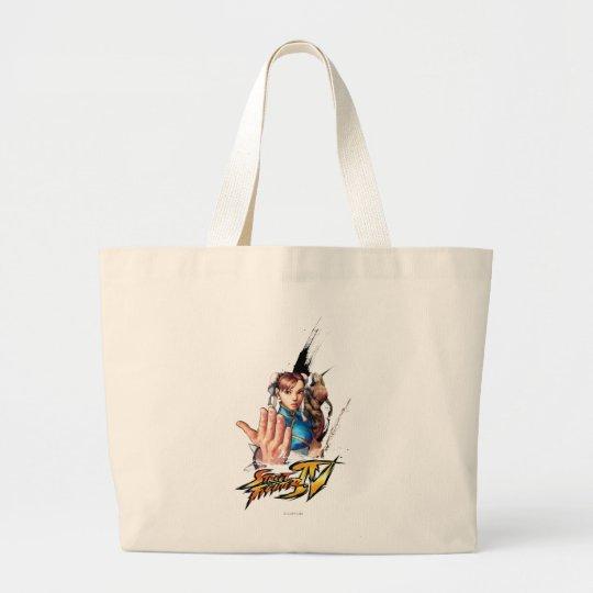 Chun-Li Vs. Vega Large Tote Bag