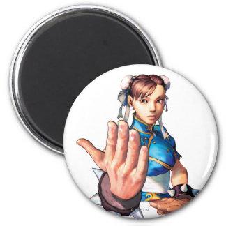Chun-Li With Hand Up Magnet