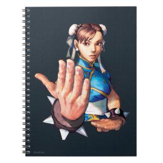 Chun-Li With Hand Up Notebook