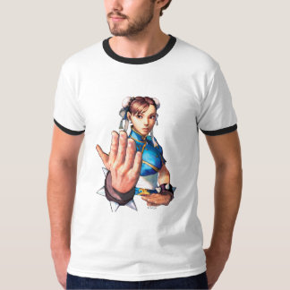 Chun-Li With Hand Up Tee Shirts