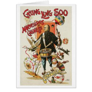 Chung Ling Soo Vintage Chinese Magic Act Greeting Card