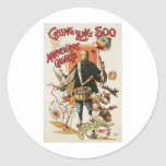 Chung Ling Soo ~ Vintage Chinese Magic Act Round Sticker