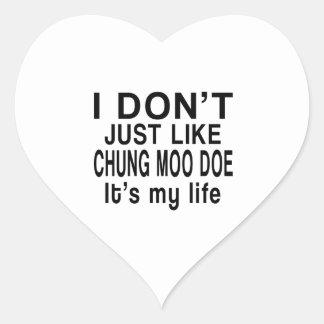 CHUNG MOO DOE IS MY LIFE HEART STICKER