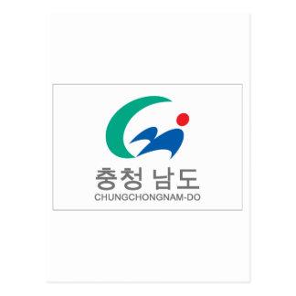 Chungchongnam-do Flag Postcard