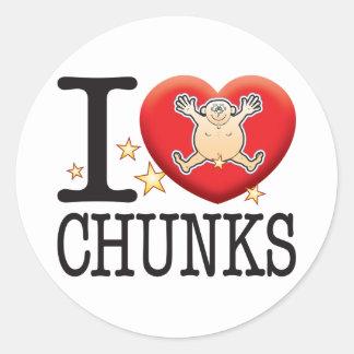 Chunks Love Man Classic Round Sticker