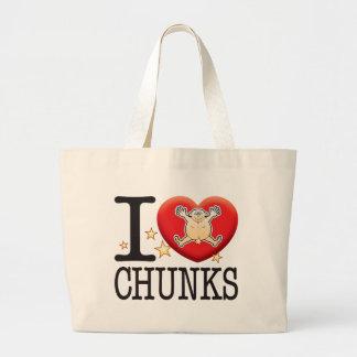 Chunks Love Man Jumbo Tote Bag