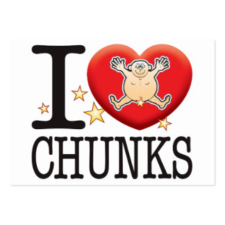 Chunks Love Man Large Business Cards (Pack Of 100)