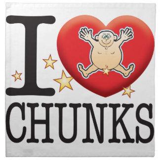 Chunks Love Man Napkin