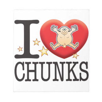 Chunks Love Man Note Pads